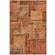 Natural Wool Persian Patchwork Rug