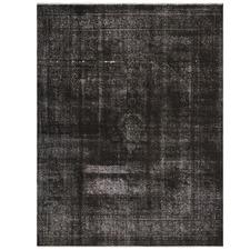 Charcoal Stonewash Wool Persian Rug