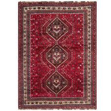 Cherry Red Wool Persian Shiraz Rug