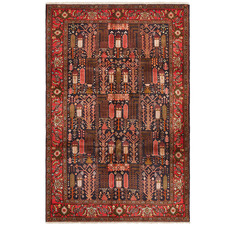 Black & Red Wool Kolyaei Rug