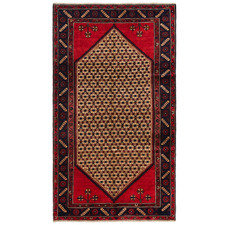 Red & Cream Kolyaei Wool Persian Rug
