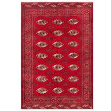Red Wool Persian Torkaman Rug