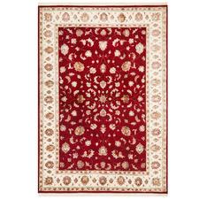 Red & Beige Narayan Wool & Silk Indian Rug