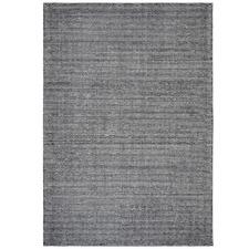Black Hand Loomed Rayon & Cotton Modern Rug