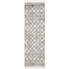 White Diamond Plush Moroccan-Style Runner