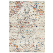 Silver Transitional Distressed Rug