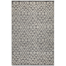 Jermaine Smoke Grey Hand Loomed Pure Wool Rug