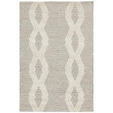 Mitchell Bone & Black Hand Loomed Rug