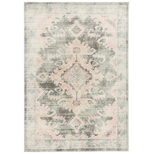 Grey & Dusty Pink Bohemian Rug