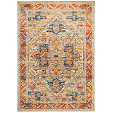 Rust Power-Loomed Transitional  Rug