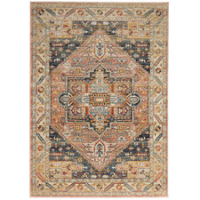 Salmon Power-Loomed Transitional  Rug