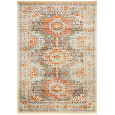Multi-Coloured Power-Loomed Transitional Rug