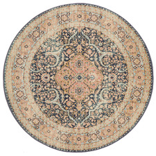 Midnight Power-Loomed Transitional Round Rug
