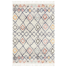 White Plush Moroccan Rug