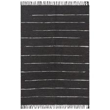 Saville Jute and Leather Black Rug