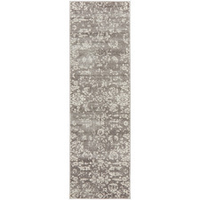 Grey Vintage Look Power Loomed Runner