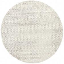Grey Art Moderne Suzanne Power-Loomed Jute Round Rug