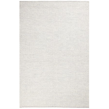 Grey & White Felted Wool Scandi Rug