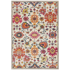 Multi-coloured Wildflower Vintage Look Rug