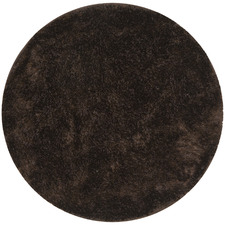 Round Choc Shag Tufted Rug