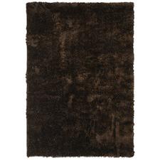Plush Luxury Dark Chocolate Tufted Shag Rug