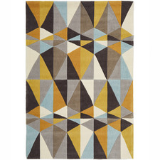 Crystal Design Yellow/Sky Blue Rug