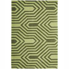 Green Tones Circuit Board Modern Rug