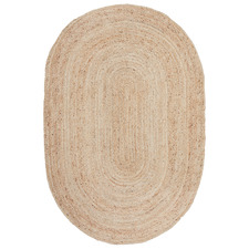 Natural Hand-Braided Jute Oval Rug