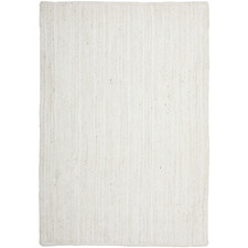 White Hand-Braided Jute Rug
