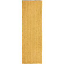 Yellow Hand-Braided Jute Runner