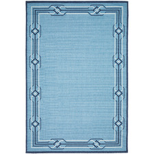 Blue Modern Power-Loomed Outdoor Rug