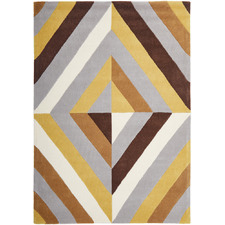 Crystal Prism Yellow/Brown Rug