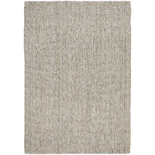 Natural & Grey Hand-Loomed Wool-Blend Rug