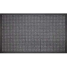 Black Carue Anti-Fatigue Doormat
