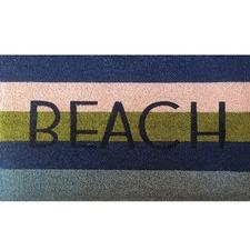 Stripy Beach Coir Doormat