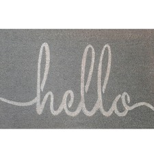 Grey Hello Coir Doormat