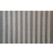 Grey Stripes Coir Doormat