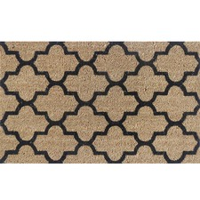 Natural Geo Tile Premium Coir Doormat