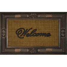 Brown Welcome Coir Doormat