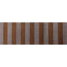 Brown Striped Hand-Woven Coir Doormat