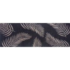 Grey Fern Hand-Woven Coir Doormat