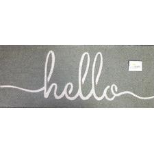 Grey Hello Doormat