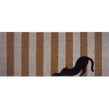 Cat Striped Coir Doormat