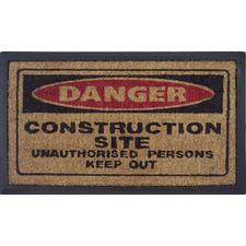 Danger Sign Doormat