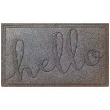 Charcoal Hello Cato Doormat