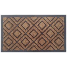 Geometric Coir Doormat