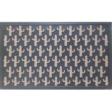 Perl Cacti Rubber Doormat