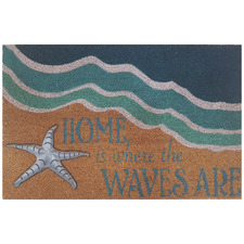 Home Is Where The Waves Are Coir Doormat