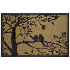 Pejo Love Birds On Tree Coir Doormat