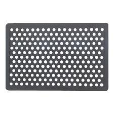 Grey Coarse Honeycomb Rubber Doormat